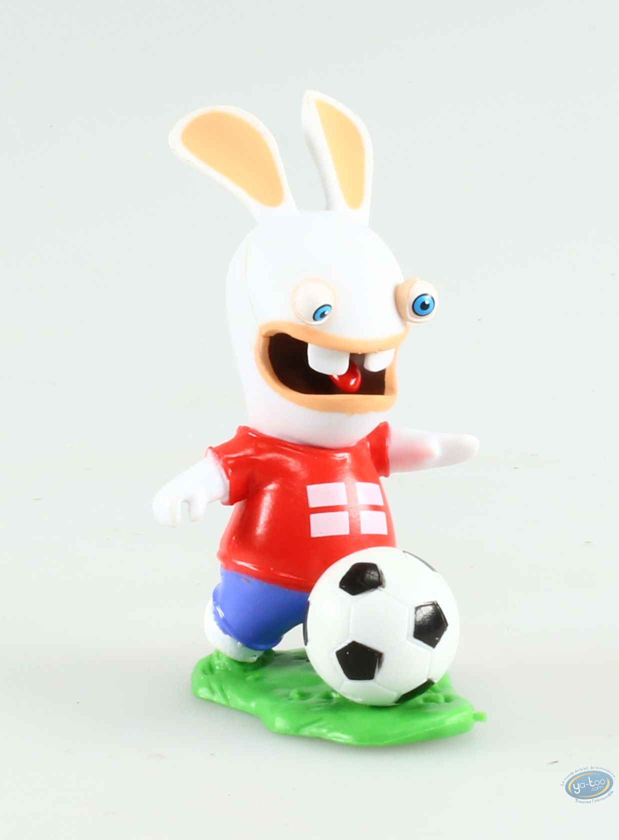 Plastic Figurine, Raving Rabbids : Soccer player - English flag