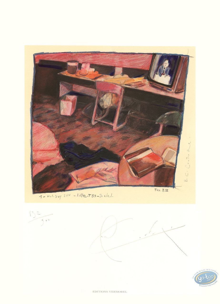 Offset Print, Charlelie Couture : Hotel Room, Holiday, Inn