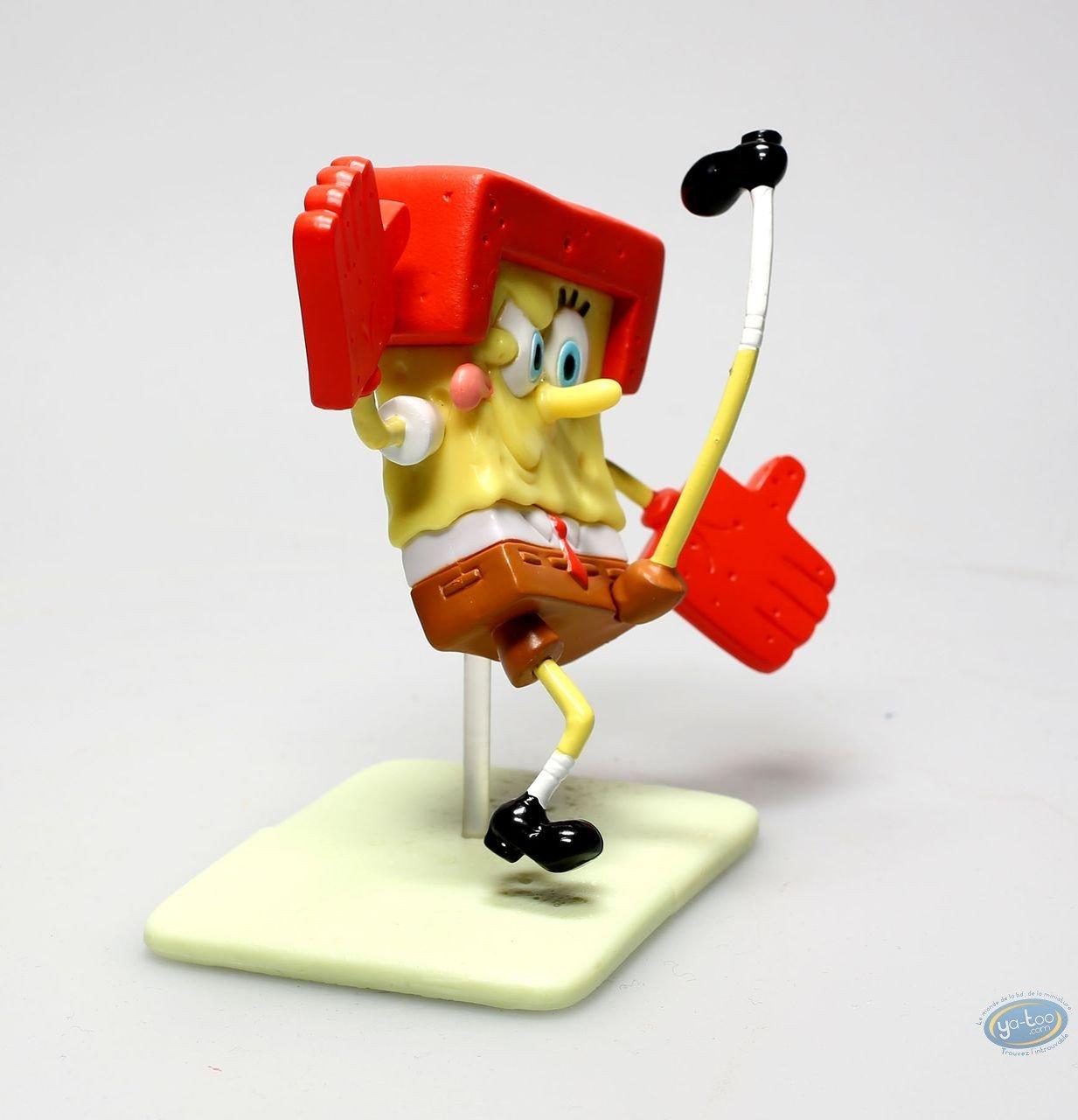 Plastic Figurine, Sponge Bob : Sponge Bob American Football