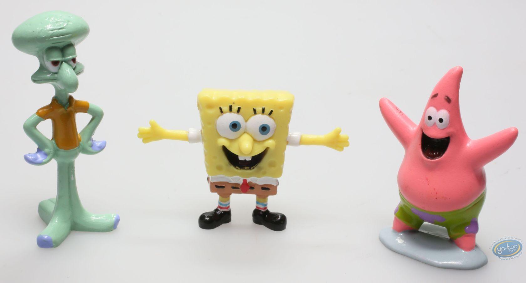 Plastic Figurine, Sponge Bob : 3 figurines Bob l'Eponge