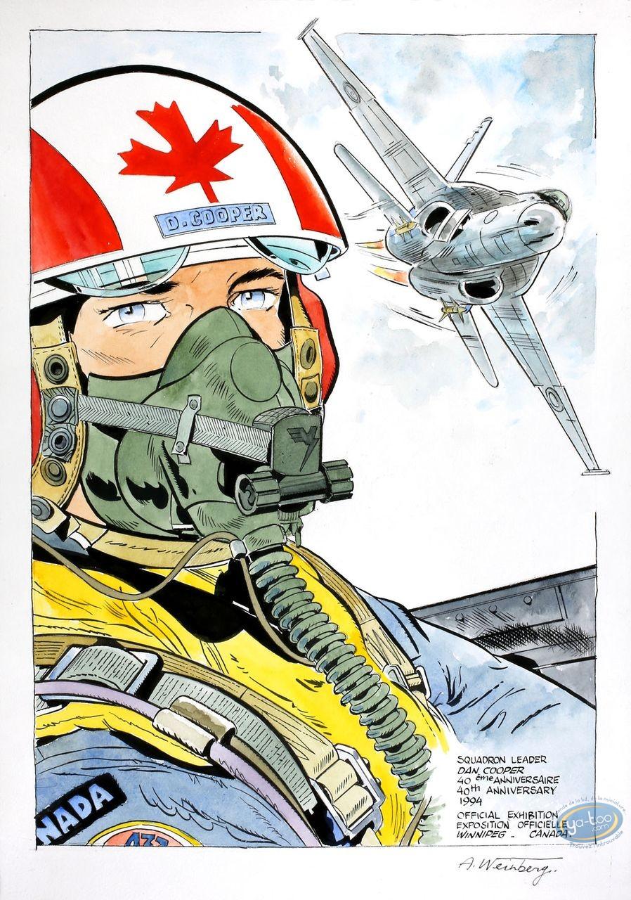 Aquarelle, Dan Cooper : Portrait with Jet