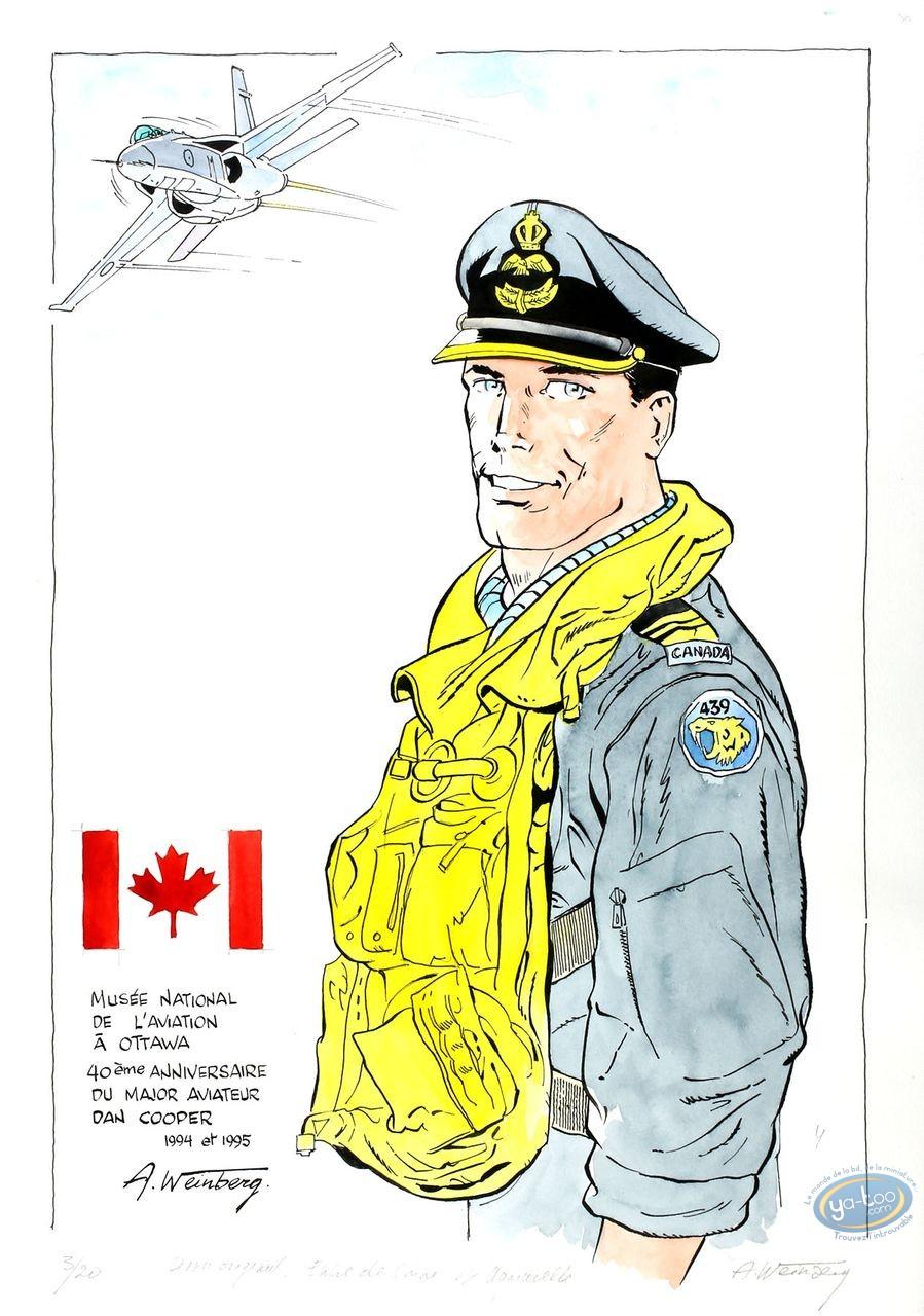 Aquarelle, Dan Cooper : Aviator Portrait