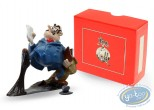 Metal Figurine, Gaston Lagaffe : Collection Gaston's Inventions - De Mesmaeker and wax for plastic floor