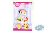 Pin's, Disney : 5 buttons Princess, Disney