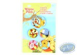 Pin's, Winnie the Pooh : 5 buttons Winnie the Pooh, Disney