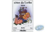 Wine Label, Alys et Vicky : Woman - Côte de l'Orbe 2004