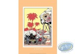 Serigraph Print, Spirou and Fantasio : In Africa