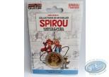Medal, Spirou and Fantasio : Metal medal. Delivered in transparent plastic box.
