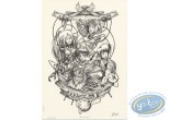 Bookplate Offset, Miroir des Alices (Le) : Horloge n&b