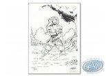 Bookplate Offset, Merlin : Warrior
