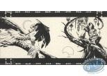 Bookplate Serigraph, Lord Twilight : Lord Twilight & Falcon Lady (n&b)