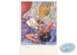 Bookplate Offset, Halloween Blues : Woman sleeping