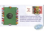 Stamp, Vincent Larcher : European Football Championship 2000, envelope 1st day