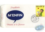 Stamp, Gaston Lagaffe : envelope 1st day