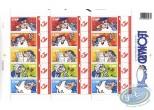 Stamp, Léonard : Planche de 15 timbres, Léonard