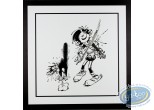 Metal Plate, Gaston Lagaffe : Gaston as a confirmed violinist and the frightened cat
