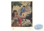 Bookplate Offset, Arno : Arno & Indian Woman