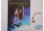 Keyring, Golden City : Amber bust