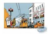 Serigraph Print, Jeune Albert (Le) : Tramway & Série Noire