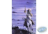 Offset Print, Piste des Ombres (La) : On Horse (purple sky)
