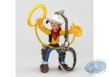 Plastic Figurine, Lucky Luke : Keyring Lucky Luke lasso in the air