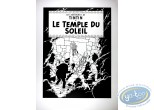 Serigraph Print, Tintin : Prisonners of the Sun (bw)