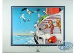 Offset Print, Spirou and Fantasio : Boat