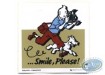 Sticker, Tintin : Advertising sticker Smile Please Tintin - Beige