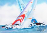 Lithography, Illustrateur : America's Cup - Alinghi