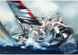 Lithography, Illustrateur : America's Cup - Alinghi 2