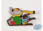Pin's, Babar : Babar and Zephyr in sled