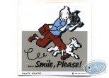 Sticker, Tintin : Advertising sticker Smile Please Tintin - Grey