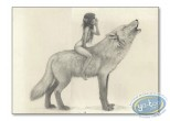 Offset Print, Féerie : Fairy on wolf