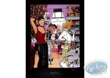 Serigraph Print, Largo Winch : Lady Paname (golden variant)