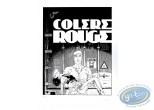 Serigraph Print, Largo Winch : Colere Rouge (b&w)