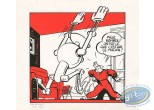 Bookplate Serigraph, Spirou and Fantasio : Chaland, Spirou et Radar le Robot