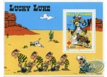 Stamp, Lucky Luke : Lucky Luke on Jolly Jumper stamp