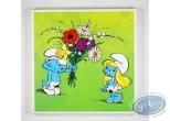 Printed Canvas, Smurfs (The) : Flowers