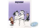Bookplate Offset, Young Spirou : Snowman