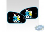 Auto accessory, Smurfs (The) : 2 sides sun visor XL, Smurfette kiss