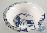 Tableware, Smurfs (The) : Melamine deep plate - Lazzy Smurf