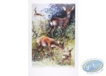 Offset Print, The deers (signed)