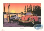 Serigraph Print, Horizon Blanc : Evening light Cox