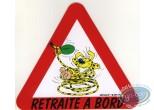 Sticker, Marsupilami : Retraite à bord