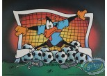 Offset Print, Daffy Duck : Daffy the goal keeper 30X40 cm