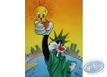 Offset Print, Titi : Give me liberty 40X30 cm