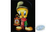 Offset Print, Titi : Tweety with a lantern 40X30 cm