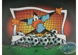 Offset Print, Daffy Duck : Daffy the goal keeper 60X80 cm