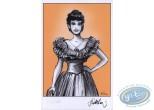 Bookplate Offset, Pin-Up : Jeune femme 19ème siècle