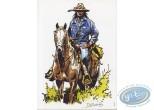 Bookplate Offset, Buddy Longway : Indian on horseback